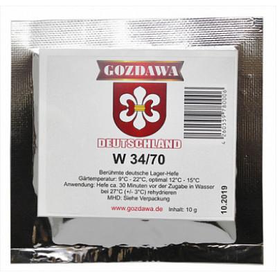 Дрожжи Gozdawa W34/70, 10 г