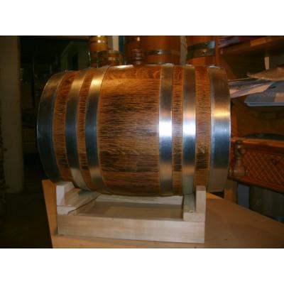 Бочка дубовая вощеная с декорацией обжигом 20 литров, Ставропольский бондарь