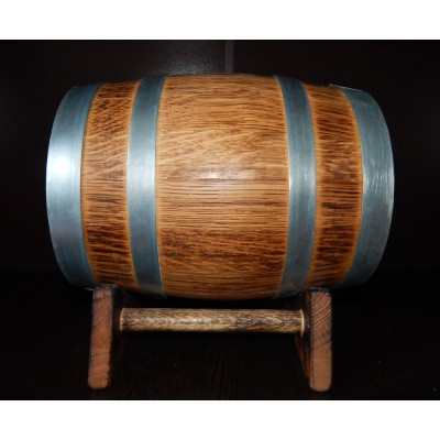 Бочка дубовая вощеная с декорацией обжигом 5 литров, Ставропольский бондарь