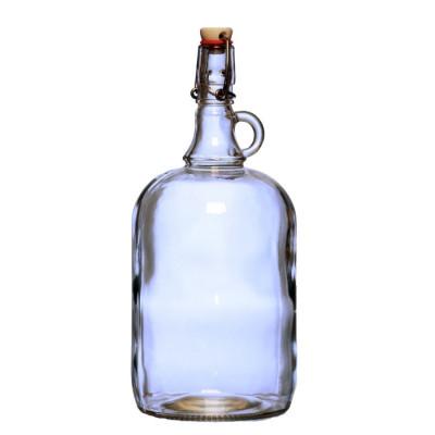 Бутылка стеклянная Венеция 2000 мл. с бугельной пробкой