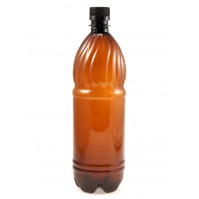 Бутылка ПЭТ 1л жесткий пластик, коричневая