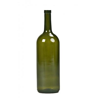 Бутылка винная бордо оливковая 1500 мл.  1 шт., 12 шт. в спайке
