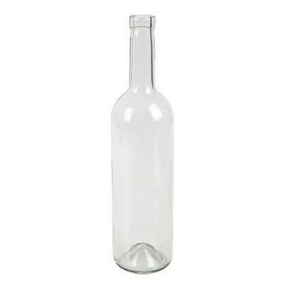 Бутылка винная бордо прозрачная 750 мл.  1 шт., 20 шт. в спайке