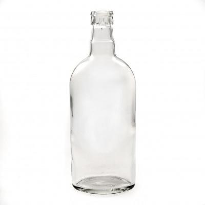 """Бутылка водочная 0,5 л. фляжка (Финская водка) с пробкой """"Гуала"""" 1 шт."""