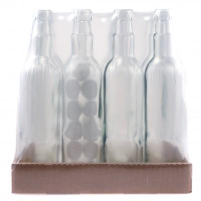 Бутылка водочная 0,5 л. круглая с пробкой Гуала 12 шт. (комплект)