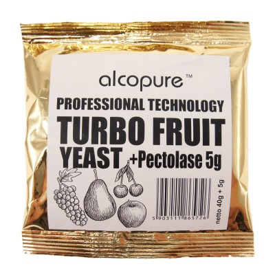 Дрожжи Alcopure Turbo Fruit Professional, 45 г