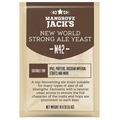 Дрожжи Mangrove Jack's New World Strong Ale M42, 10 г