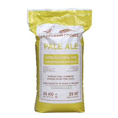 Солод ячменный PALE ALE 4-6 EBC Курский солод 25кг