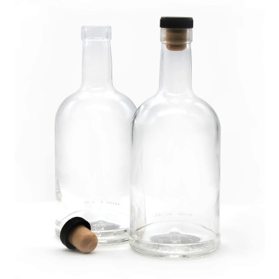 """Бутылка """"Домашняя"""" 0,5 л  с пробкой 1 шт"""