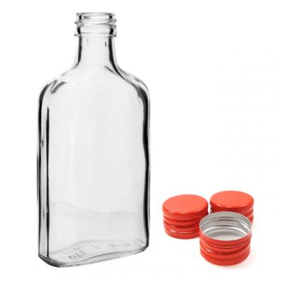 """Бутылка """"Фляжка"""" 0, 25 л. с пробкой. Упаковка 32 шт."""