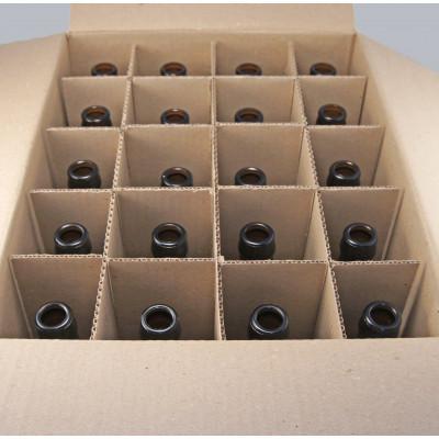 Бутылка пивная коричневая 0,5 л. 20 шт в коробке