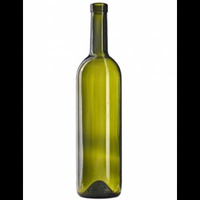 Бутылка винная бордо оливковая 700 мл.  1 шт., 12 шт. в спайке