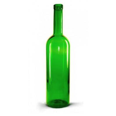Бутылка винная бордо зеленая 750мл.  12 шт. в картонной коробке