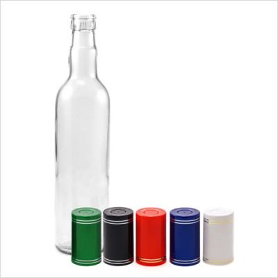 Бутылка водочная 0,5 л. круглая с пробкой Гуала 1 шт.