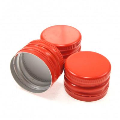 Колпачок алюминиевый Винт 28*18 (красный) / 100 шт.