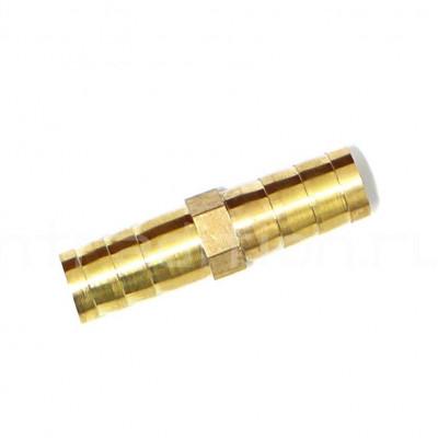 Соединитель латунный  елочка 10 мм на 10 мм