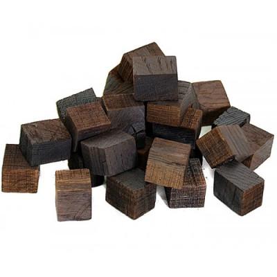 Кубики дубовые, сильный обжиг,  подготовленные. 100г