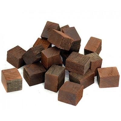 Кубики дубовые, средний обжиг,  подготовленные. 100г