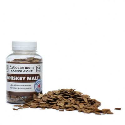 Щепа дубовая Whiskey Malt, специальный обжиг, 50 гр. (Франция)