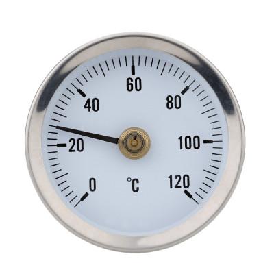 Термометр биметаллический, диапазон 0-120 гр.