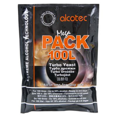 Турбо дрожжи Alcotec Mega Pack 100L, 360 г  на 100 л. браги